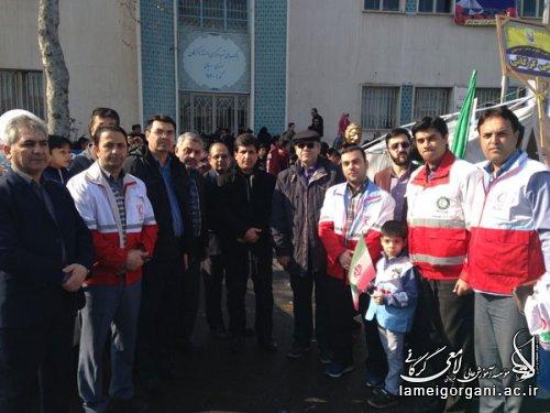 برپایی ایستگاه صلواتی در روز گرامیداشت 22 بهمن 96