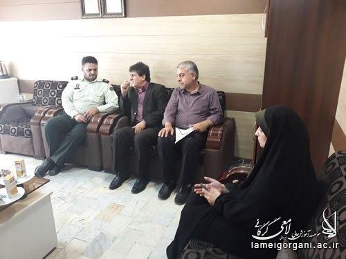 دیدار مسئولین مؤسسه با پرسنل نیروی انتظامی به مناسبت هفته نیروی انتظامی