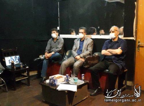 برگزاری جلسه دفاع پایان نامه دانشجویان کارشناسی ارشد بازیگری