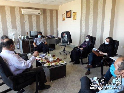 نشست هیأت رئیسه مؤسسه آموزش عالی لامعی گرگانی با مسئول و کارشناس فنی و حرفه ای استان گلستان